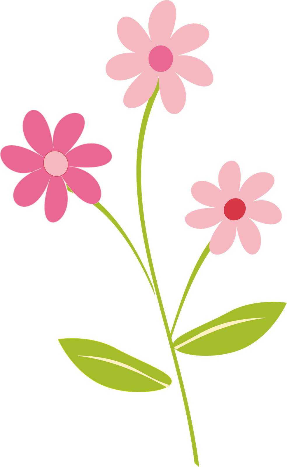 Flower Clipart Png - Pin by Elham Mahdi on png.   Flower clipart, Cartoon flowers, Clip art