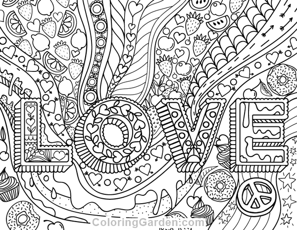 Free Printable Png Of Food In Colorbook Form - Pin by Muse Printables on Adult Coloring Pages at ColoringGarden ...