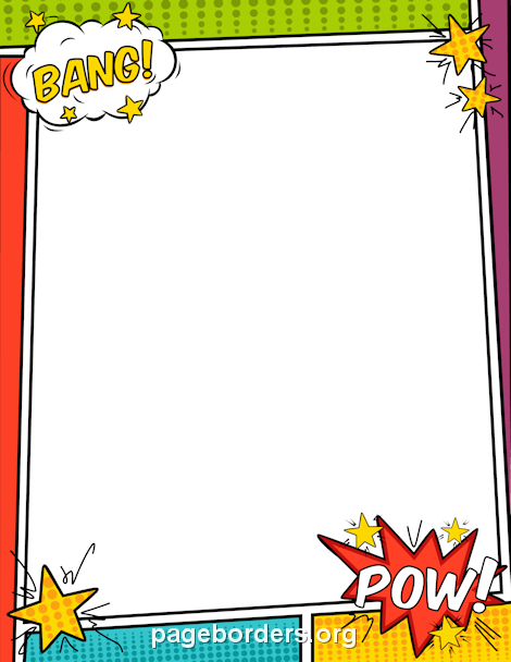 Superhero Border Png - Pin by Muse Printables on Page Borders and Border Clip Art   Page ...