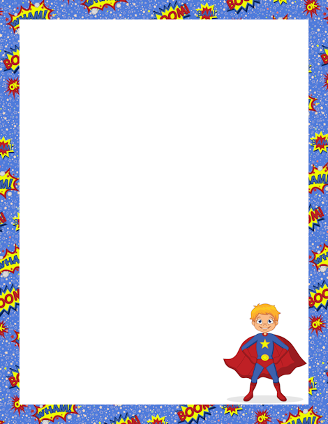 Superhero Border Png - Pin by Muse Printables on Page Borders and Border Clip Art ...