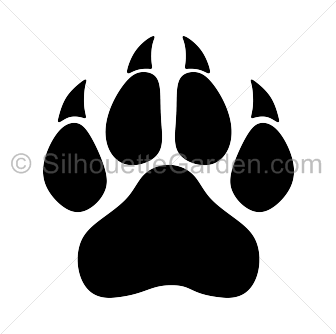 Panther Paw Print - Pin by Muse Printables on Silhouette Clip Art at SilhouetteGarden ...