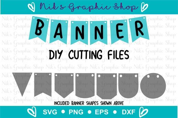 Pennant Banner Svg Png - Pin on Cricut