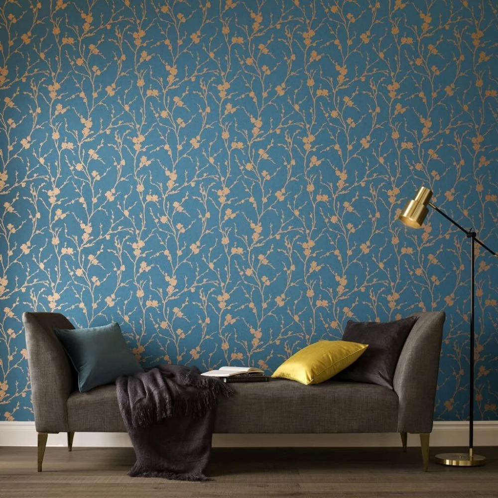 Graham  Brown Cherry Blossom Wallpaper Png - Pin on Powder Room