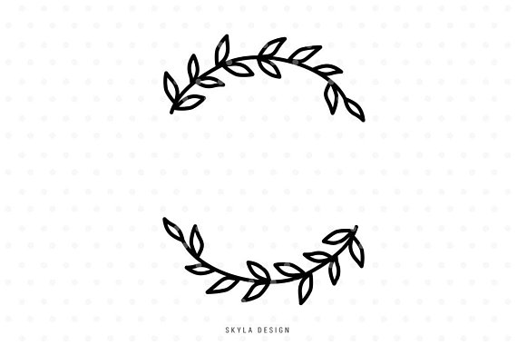 Leaf Wreath Clipart - Pin on Products