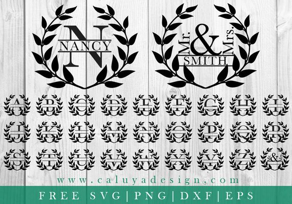 Wedding Monogram Wreath Png - Pin on Products