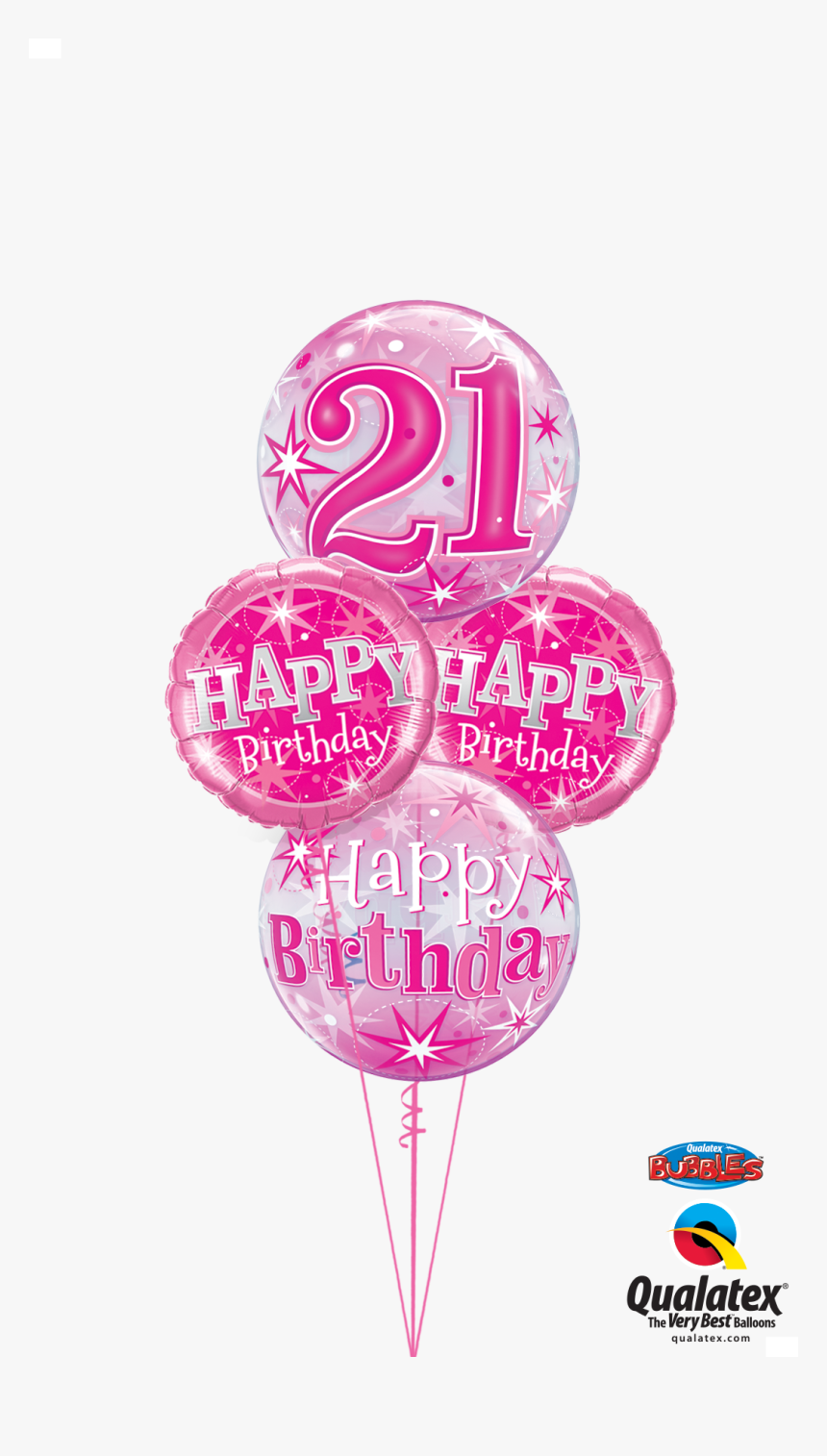 Happy 21th Birthday Png - Pink 21st Birthday - Pink Happy 21st Birthday, HD Png Download ...