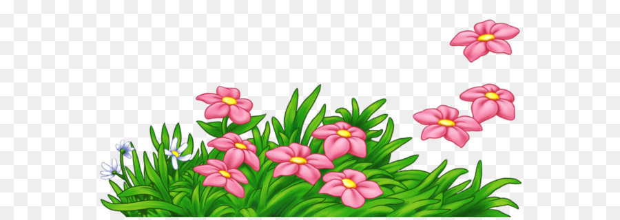 Flowers Clipart Png - Pink Flower Cartoon png download - 1740*846 - Free Transparent ...