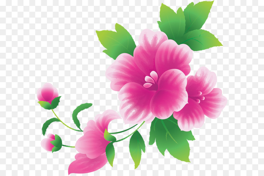 Flower Clipart Png - Pink Flowers Clipart Large - Clipart1001 - Free Cliparts