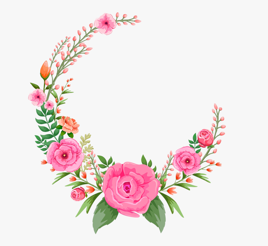 Pink Png Hd - Pink Rose Flowers Flower Frame Free Hd Image - Circle Flower Frame ...