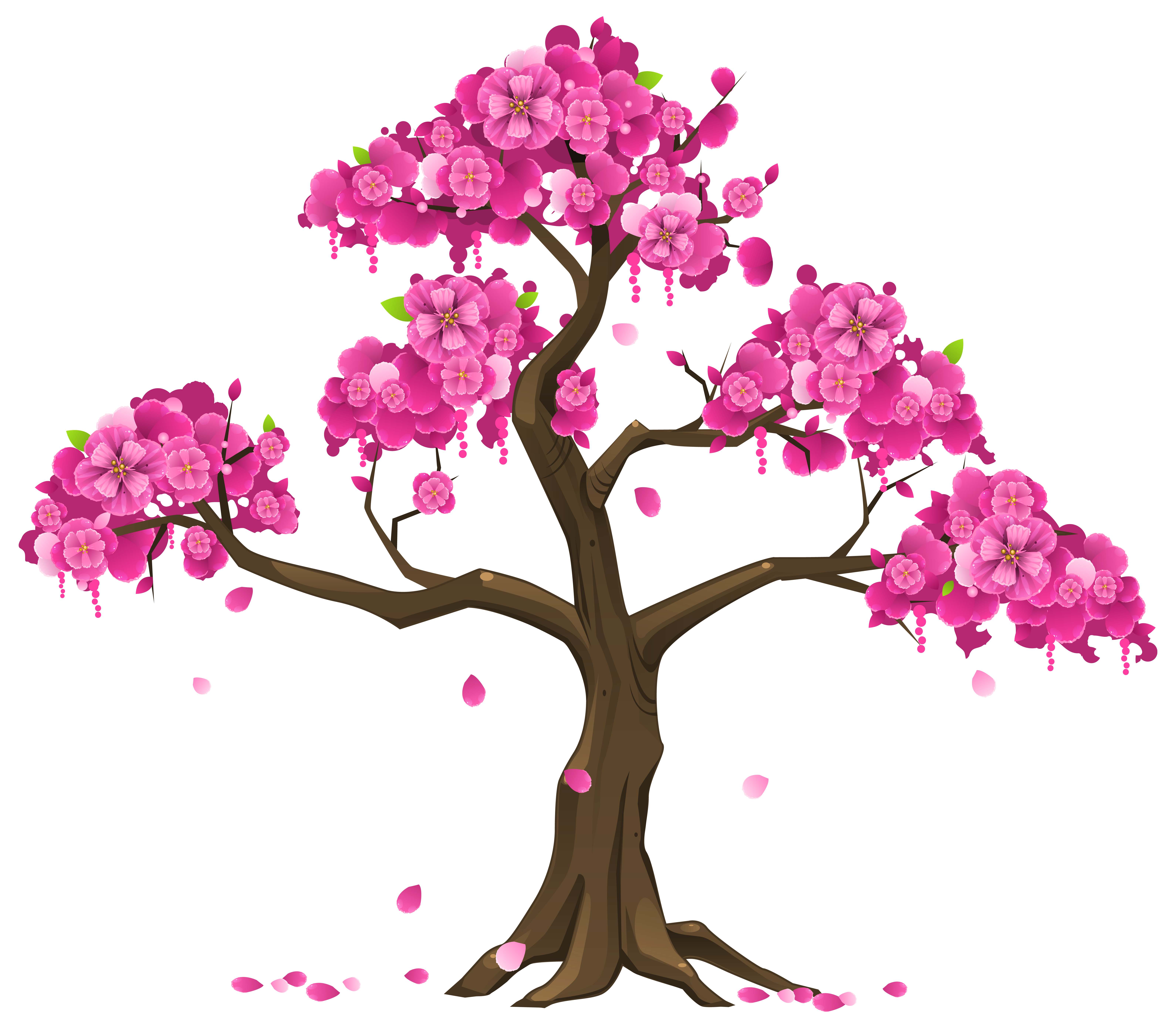 Png Tree With White And Pink Flowers - Pink tree svg library download - RR collections