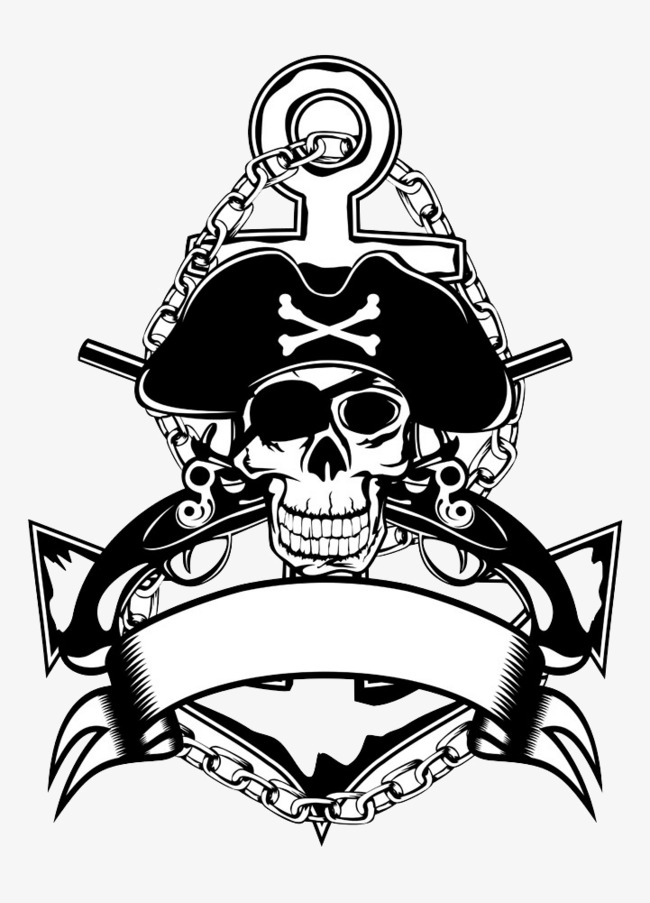Free Pirate Png Black And White Amp Free Pirate Black And