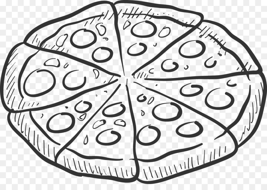 Pizza Black And White Free Pizza Black And White