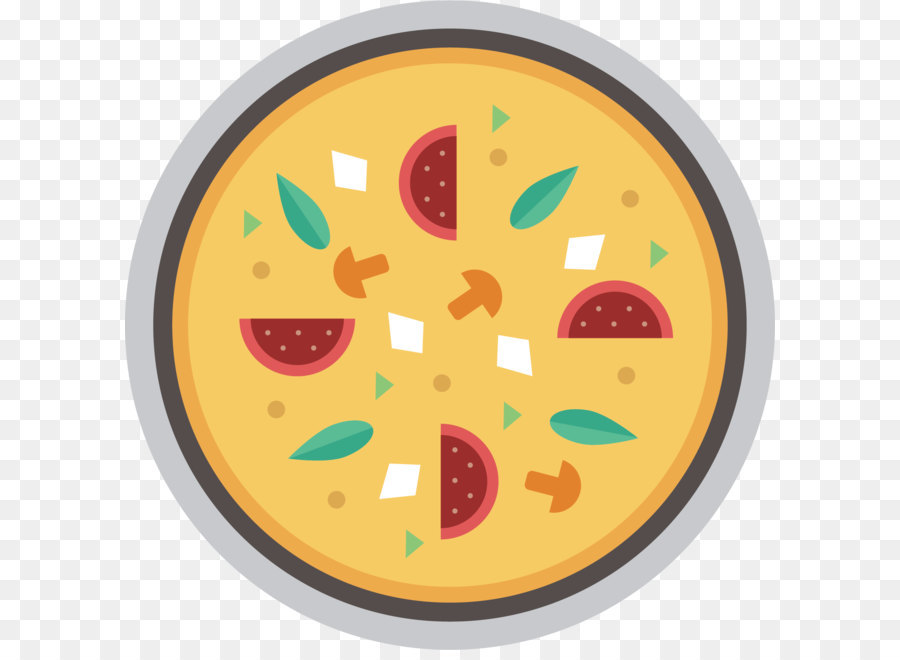 Pizza Vector Png - Pizza - Pie pizza vector png download - 1638*1639 - Free ...