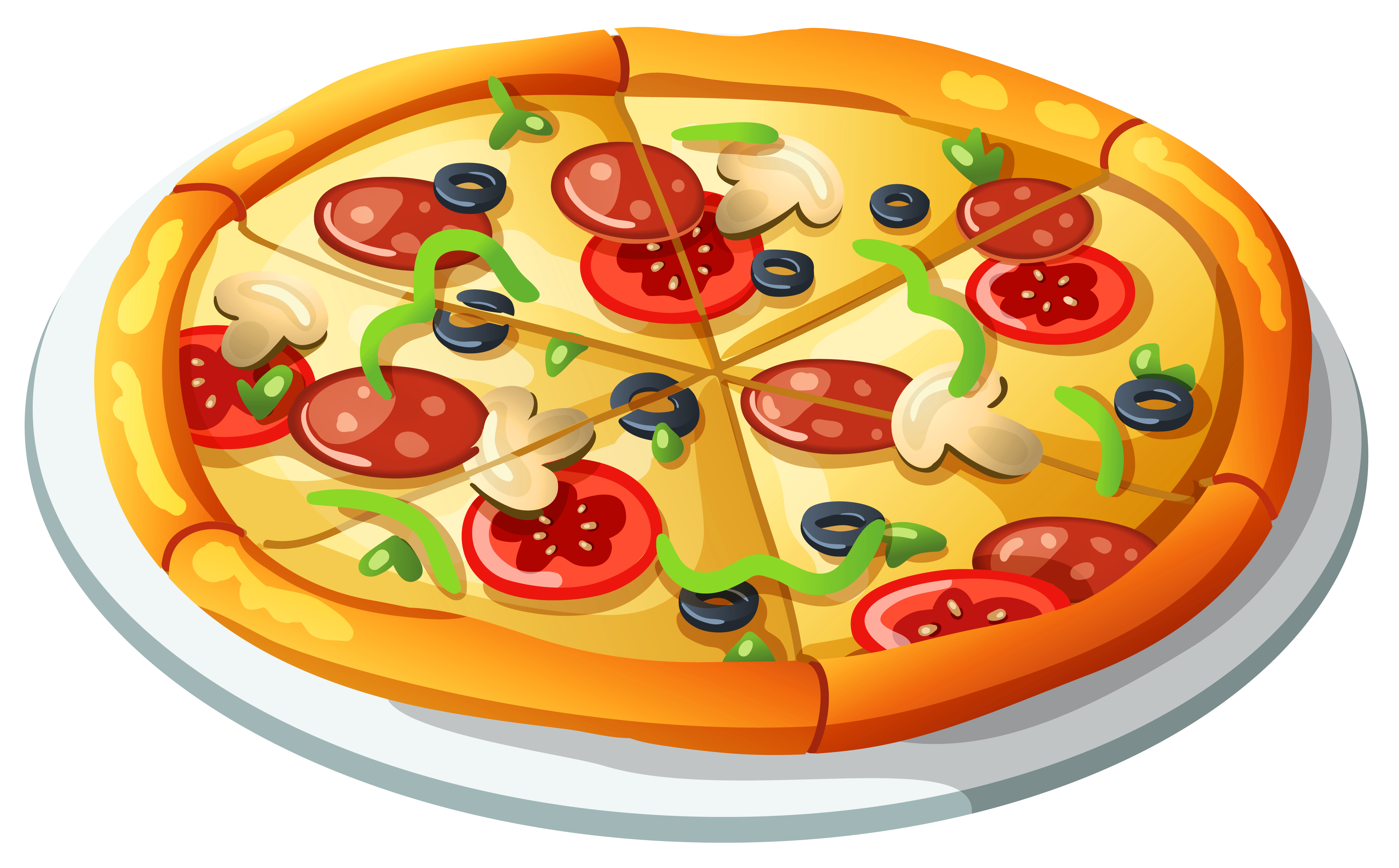 Pizza Vector Png - Pizza PNG Vector Clipart   Gallery Yopriceville - High-Quality ...