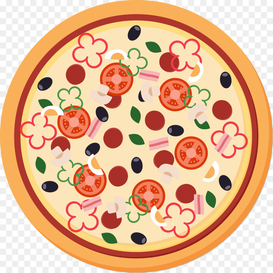 Pizza Vector Png - Pizza Take-out KFC Ingredient - Pizza Vector png download - 2401 ...