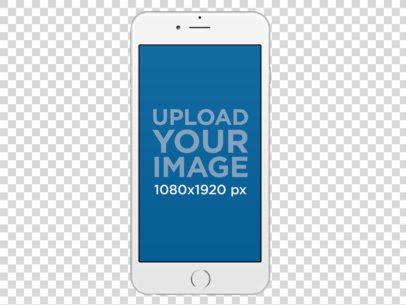 Placeit Frontal Mockup Of A White Ipho 788907 Png Images Pngio