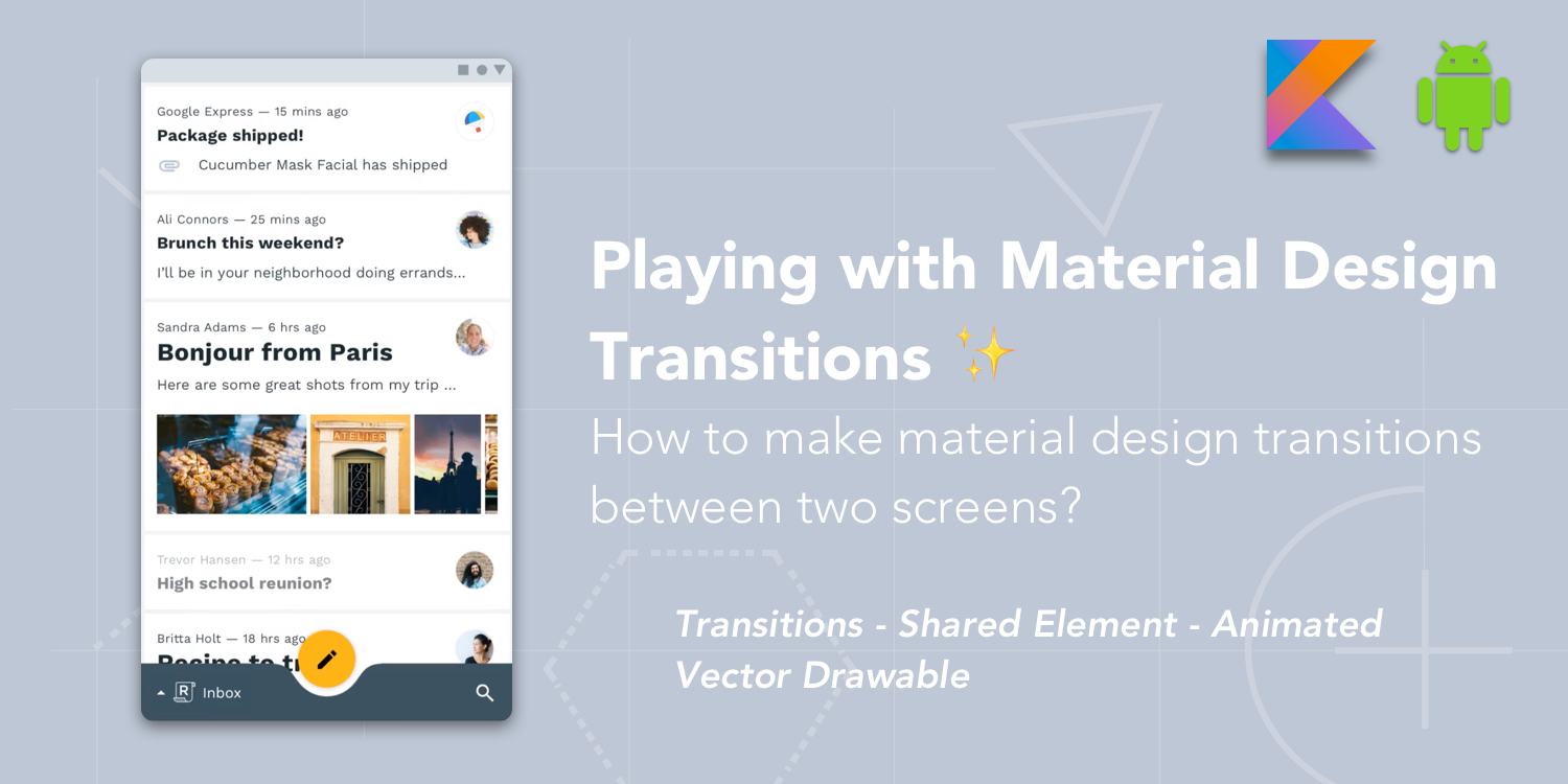Animated Png For Android - Playing with Material Design Transitions ✨ - ProAndroidDev