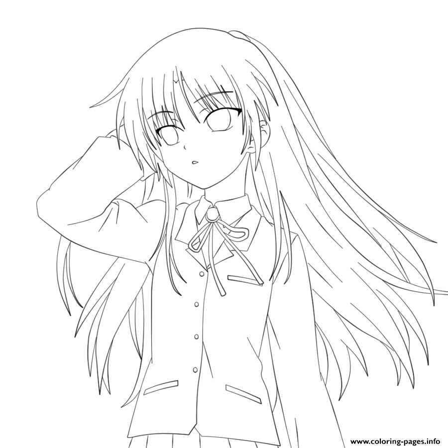 Coloring Pictures Png - Png Girl Anime Coloring & Free Girl Anime Coloring.png Transparent ...