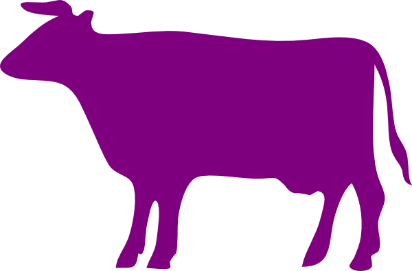Purple Cow Png - png library Clip art at clker com vector online. png library Purple cow ...