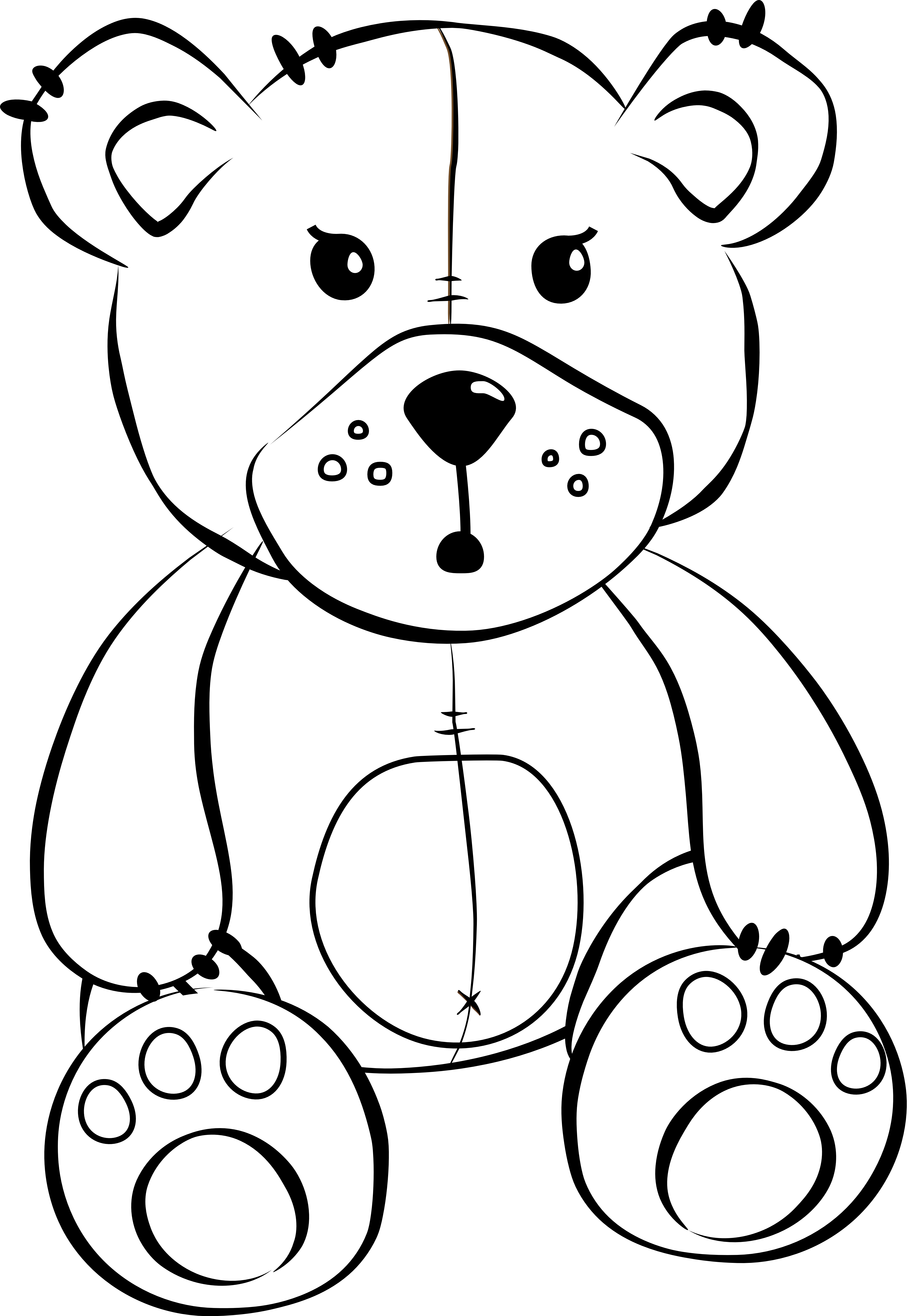 Free Bear Png Black And White Free Bear Black And White Png Transparent Images 8078 Pngio