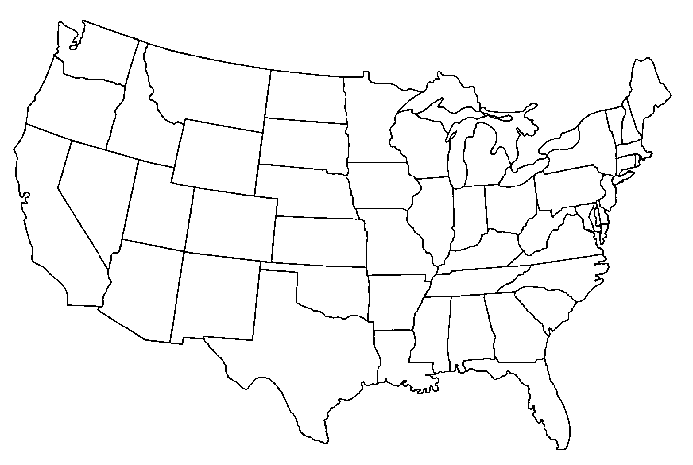 Png Of United States Map Outline & Free Of United States Map Outline ...