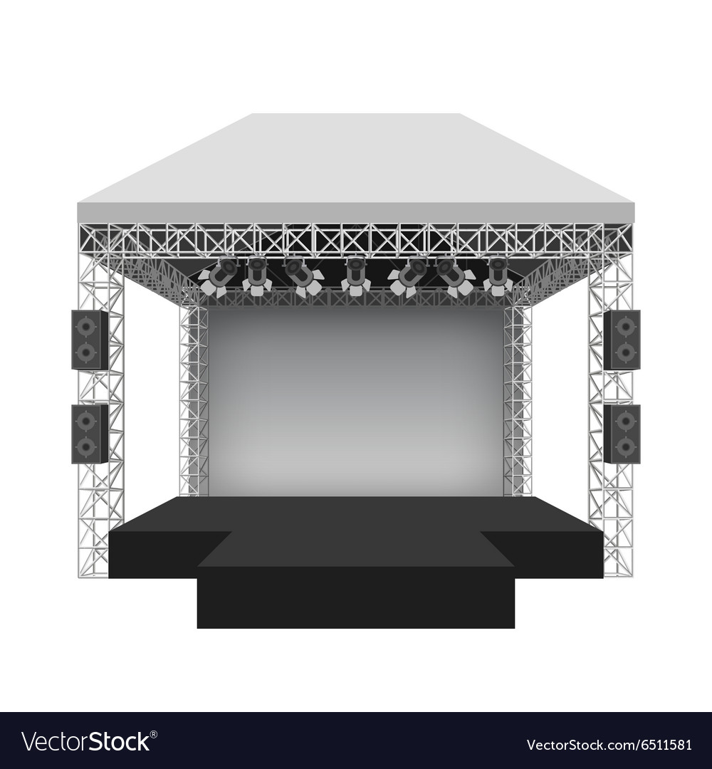 Stage Vector Png - Podium concert stage Royalty Free Vector Image