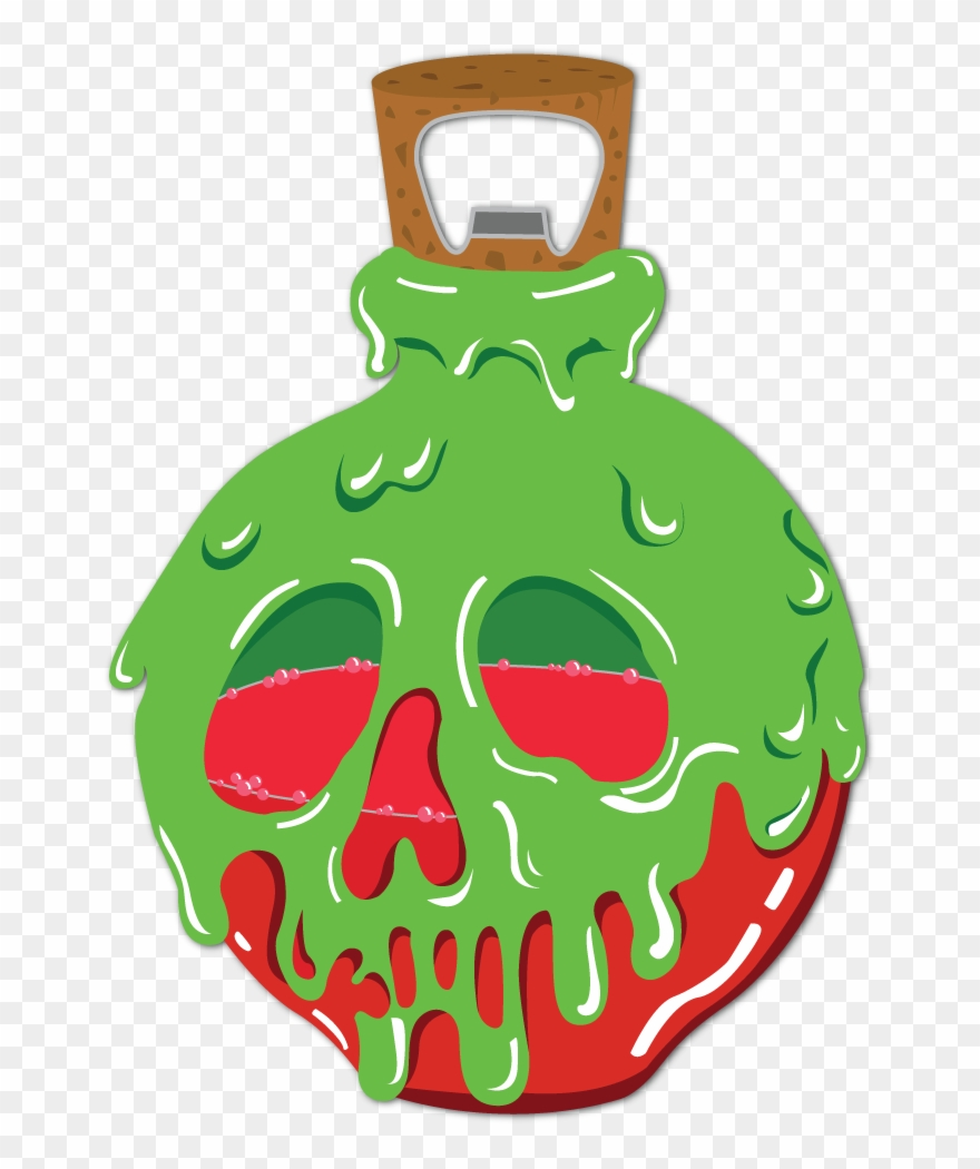 Poison Apple Silhouette Png - Poison Apple Bottle Opener - Wicked Witch With Poison Apple Png ...