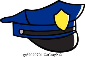 Police Hat Cartoon - Police Hat Clip Art - Royalty Free - GoGraph