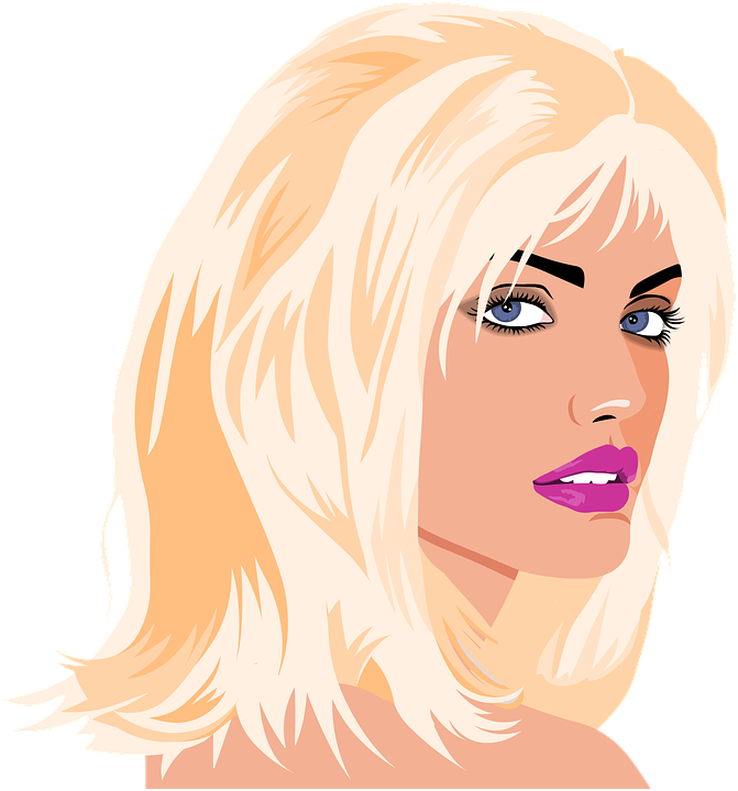 White Blonde Woman Png - Portrait Blonde Woman Young - Free image on Pixabay