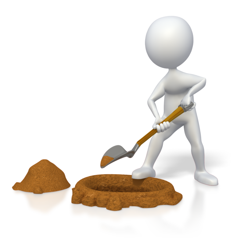 Png Man Digging - PowerPoint animation Shovel Stick figure - introduction