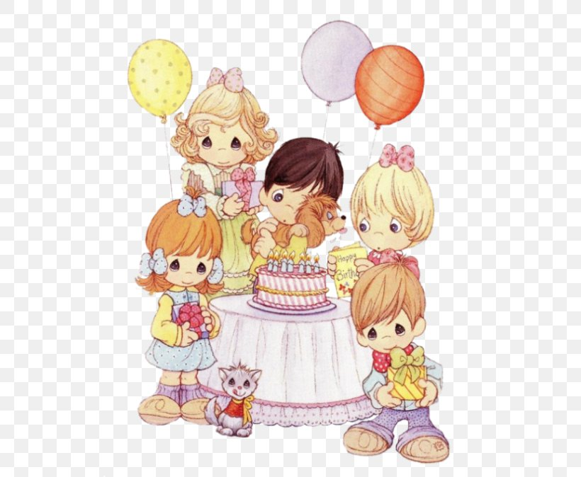Precious Moments Birthday Png - Precious Moments, Inc. Happy Birthday Greeting & Note Cards Clip ...
