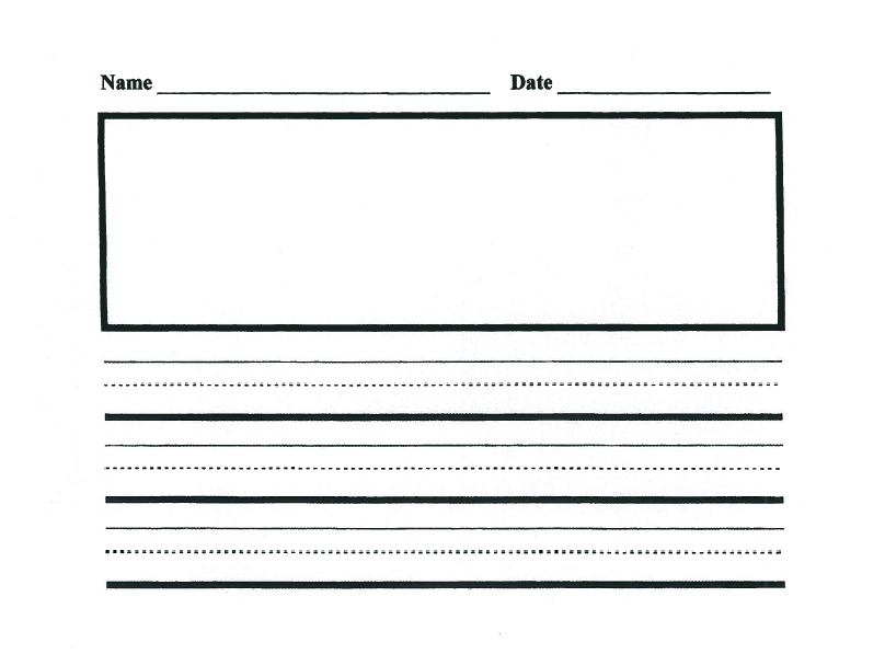 This is a graphic of Primary Paper Printable throughout 4th grade