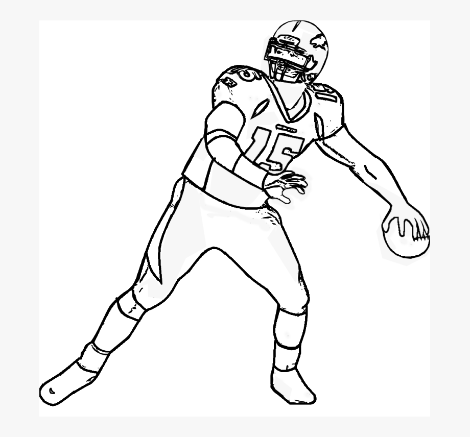 Printable Football Player Mean - Quarter #4 - PNG Images - PNGio