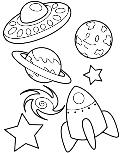 Cartoon space | Space coloring pages, Preschool coloring pages ... | 638x504