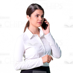 Woman Talking On Phone Png - Products tagged with 'black skirt'