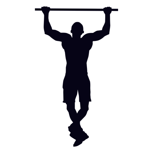 Pullup Png - Pull up crossfit silhouette - Transparent PNG & SVG vector file