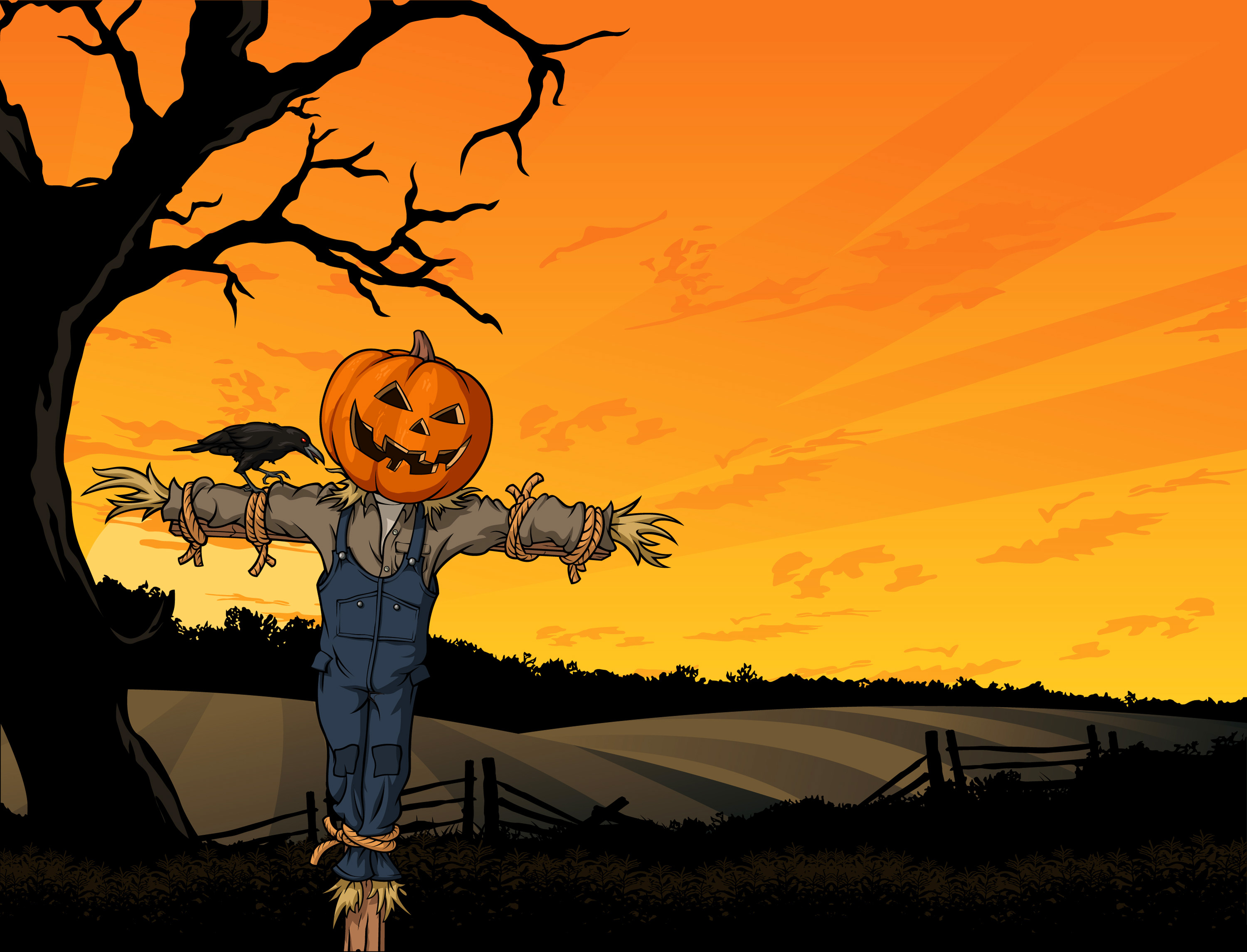 Scarecrows And Pumpkins Png - Pumpkin Scarecrow | Gallery Yopriceville - High-Quality Images ...