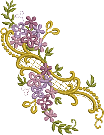 Embroidery Png - Purple Embroidery Png PNG Images