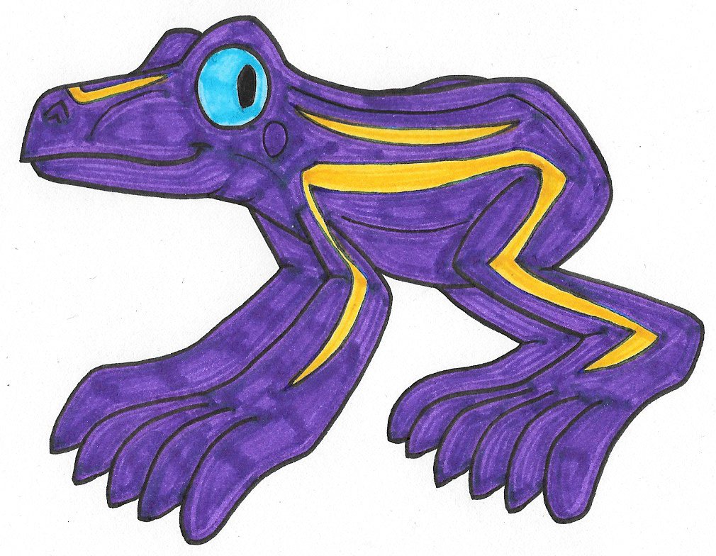Purple Frog Png - Purple Frog by Genie-Dragon ...