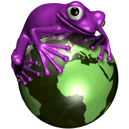 Purple Frog Png - Purple Frog Text