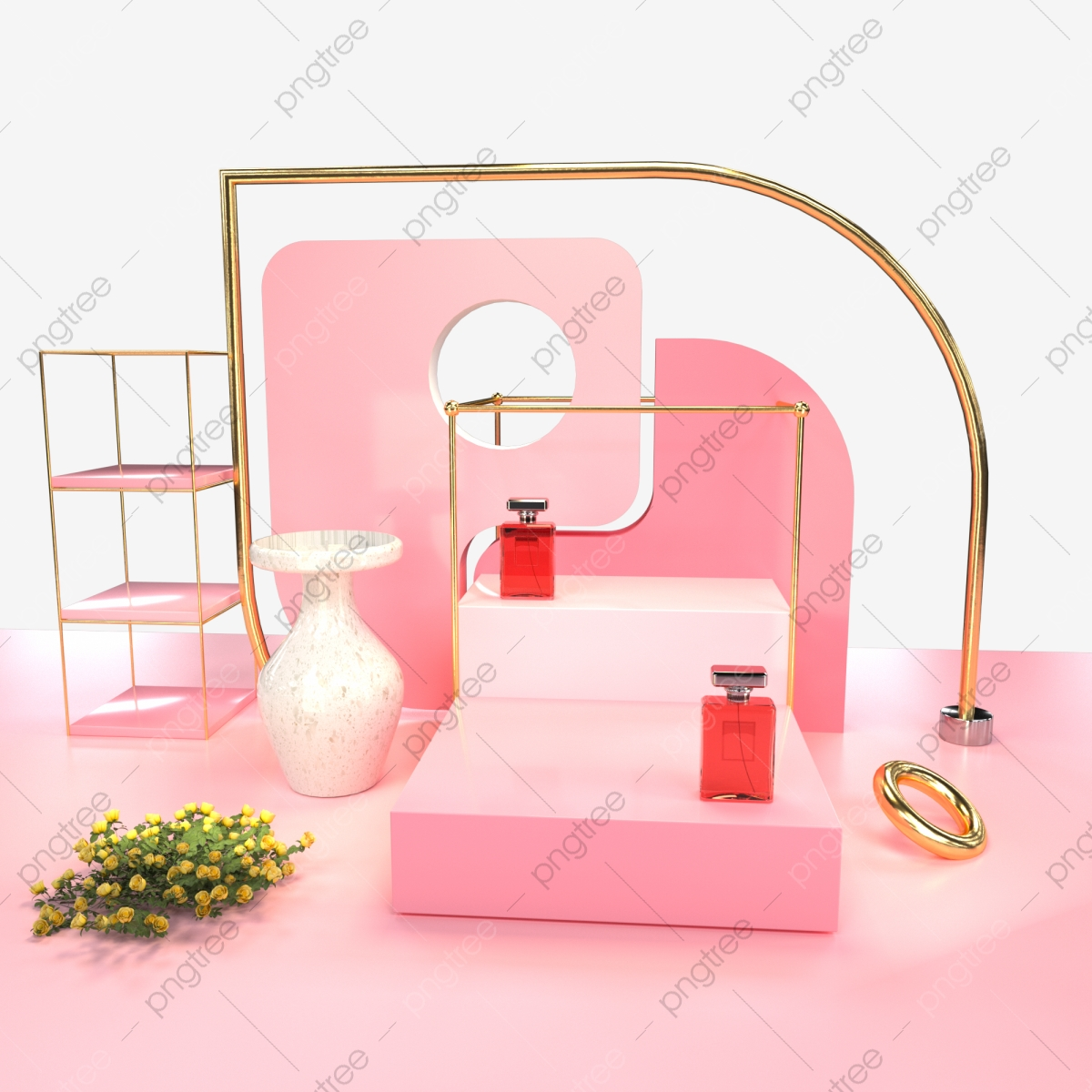 3d Scene Png - Queen S Day 3d Scene, C4d, 3d, Pink PNG Transparent Clipart Image ...