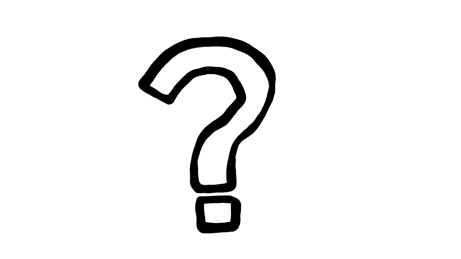 Question Mark Scribble Animation Doodle 88110 Png Images