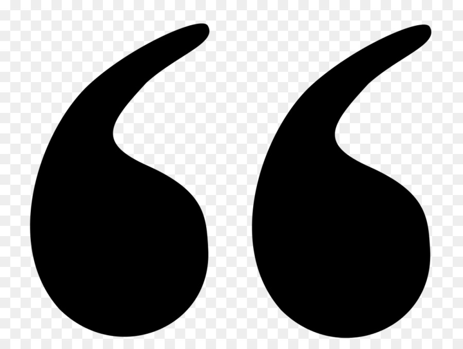Quotation Marks Transparent - Quotation Mark Black And White png download - 1024*768 - Free ...