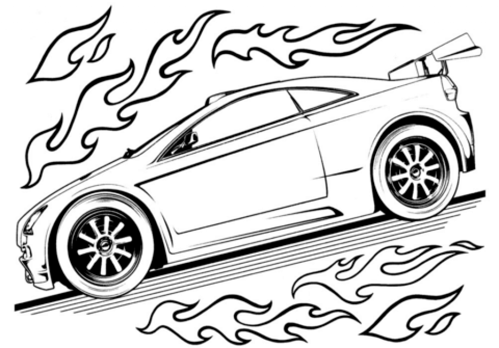 Printable Race Car Coloring Pages Www.robertdee.org