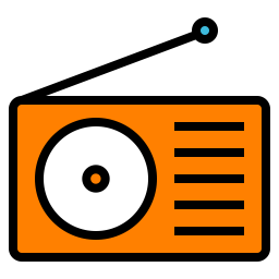 Radio Icon Of Colored Outline Style Av Png Images Pngio