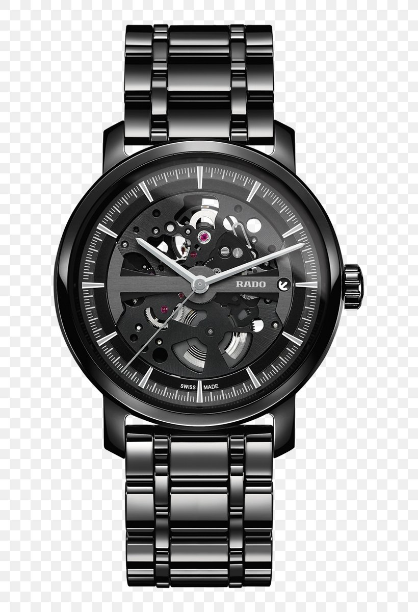 Automatic Watch Png - Rado Automatic Watch Movement Skeleton Watch, PNG, 703x1200px ...