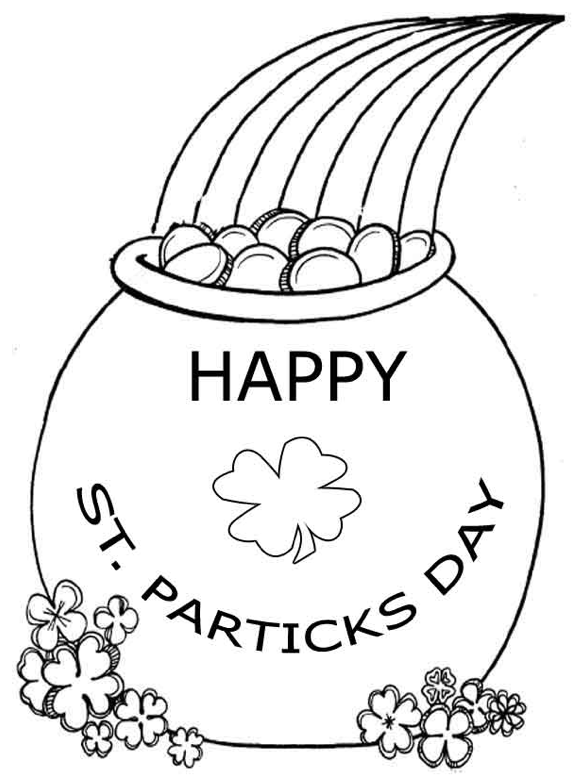 This is an image of Free Printable St Patrick Day Coloring Pages with regard to template