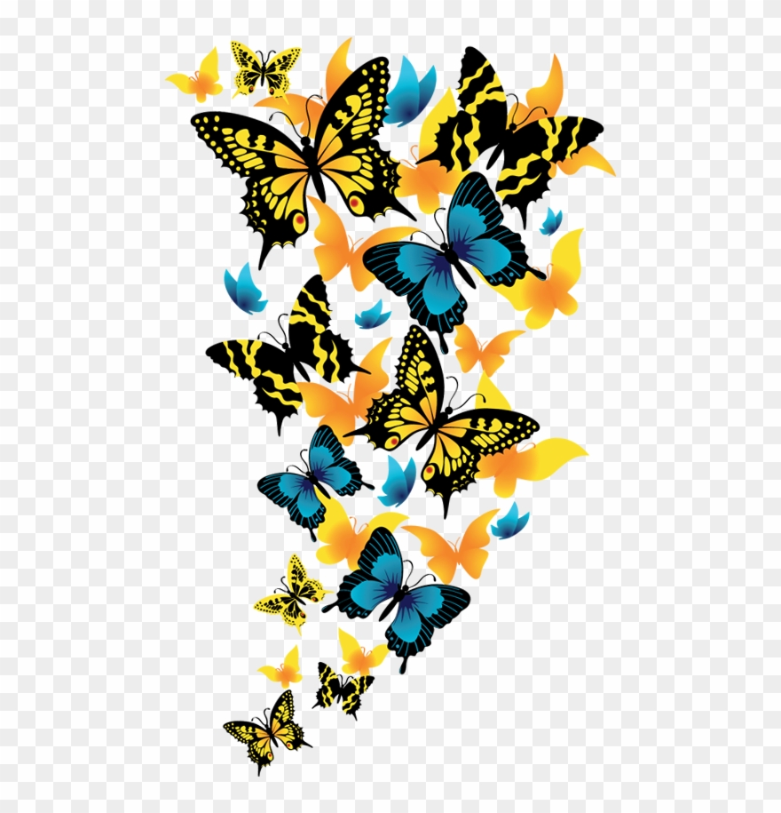 Butterfly Transparent Background - Rainbow Butterfly Clipart Clip Art - Transparent Background ...