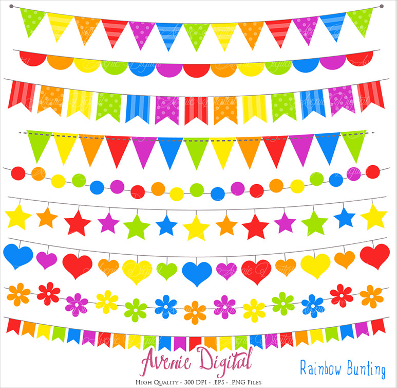 Colorful Banner Template Png - Rainbow Party Banner Clipart