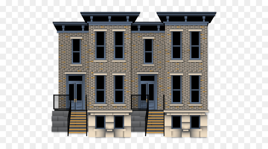 Terraced House Png - Real Estate Background png download - 600*500 - Free Transparent ...